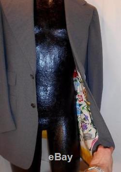 Vintage GUCCI Floral Scarf Lined CustomTailored Blazer Jacket Mens Size 38