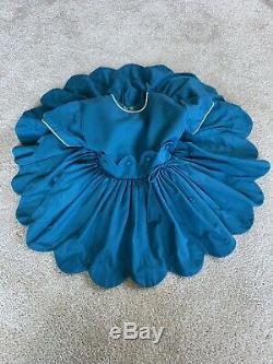 Vintage Girls Party Dress Crinoline Lined Skirt Scalloped Hem Size 4 Gorgeous