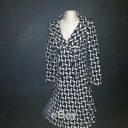 Vintage Givenchy Black And White Wool Lined Coat
