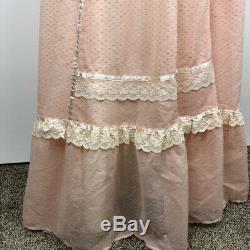 Vintage Gunne Sax Sleeveless Prairie Dress Maxi Ruffle Peasant A-Line