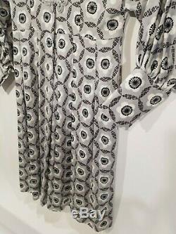 Vintage Hanae Mori Tokyo Japan A Line Shirt Dress Sz 12 Mod 60s Geometric Floral