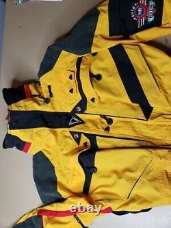 Vintage Helly Hansen HH Equipe Red Line One Piece Ski Snow Suit Nylon UNISEX S