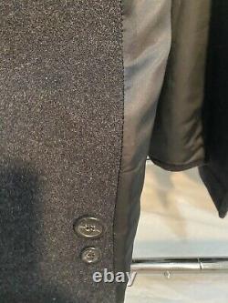 Vintage Hugo Boss 100% Virgin Wool Black Men's Dress Coat Size 46R