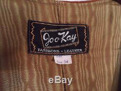 Vintage Jo-O-Kay Lined Suede Leather Long Vest with Fringe - Sz 34 - Pristine