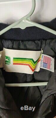 Vintage John Deere Lined Winter Snowsuit Rainbow V Striped