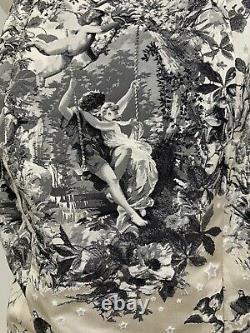 Vintage John Galliano For Christian Dior Corset Dress W Valentines Newsprint 4