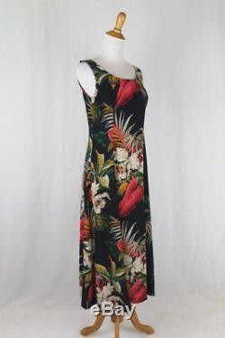 Vintage Jones New York Sleeveless Floral Silk Long A-line Midi Dress 4
