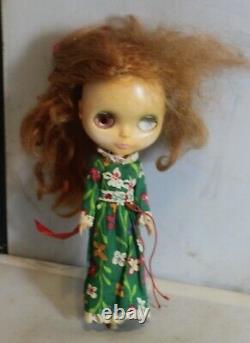 Vintage Kenner Blythe 1972 Side Part Redhead Original Dress 7 lines Hong Kong