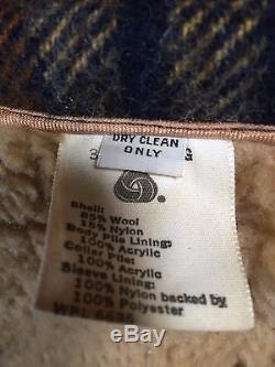 Vintage L. L. Bean Wool Plaid Jacket Size Men's 40 LL Bean Large Rare Lined