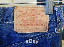 Vintage LEVI'S BIG E Denim Jeans Pants 505 0217 XX Red Line Zipper Fly 31x 29