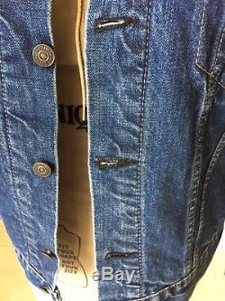 Vintage LEVIS BIG E Jacket 60s Trucker Denim Jean Blanket Lined Great Condition