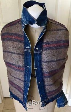 Vintage LEVIS BIG E Jacket 60s Trucker Denim Jean Blanket Lined Great Condition