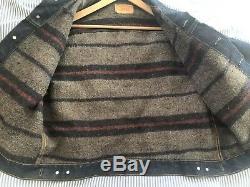 Vintage LEVIS Big E Large Troy Blanket Lined Trucker Jacket Made In USA 1960s
