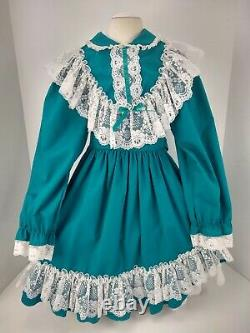 Vintage Lace Full Circle Lined Toddler Size 6x Girls Party Dress Pageant USA