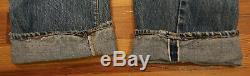 Vintage Levi Strauss Jeans 501 Button Fly Red Line 35 x 34 Straight Leg