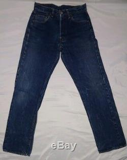 Vintage Levi's XX Big E Red Line 60's 501 Selvedge Jeans 29 X 34 (28x30) USA #6