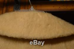 Vintage Lilli Ann Coat 100% Wool Beige A-Line 3/4 Sleeve Swing Coat Size M/L