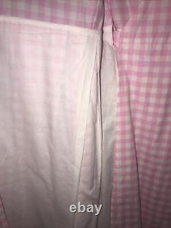 Vintage Lilly Pulitzer Pink White Check With Eyelet Trim Wrap Dress RARE! Sz 6