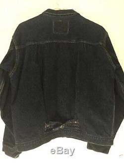 Vintage Lvc Levis 506 Denim Jacket Big E Red Line 555 Little Wear. Sz 44