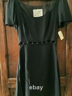 Vintage MOSCHINO Cheap and Chic Button Top to Button Skirt Dress Black