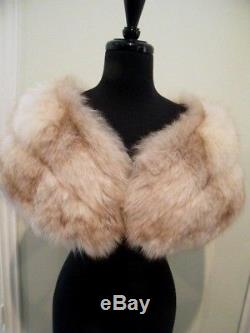 Vintage Macy's New York Light Mink Fur Cape, Stole Lined Inner Hand Hold, Exc