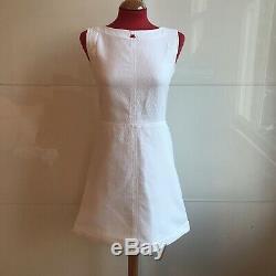 Vintage Mod White Red Courreges A Line Dress UK10 US 6 Excellent Condition Rare