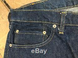 Vintage NOS BIG E Single Stitched Red Line Selvedge Levis 505-0217 38 x 32