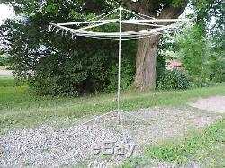 Vintage Outdoor Clothes Line Laundry Retractable Air Dryer Portable FOLD-UP NICE