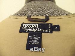 Vintage POLO SPORT Ralph Lauren Tartan Plaid Wax Finish Lined Zip Fishing Vest M
