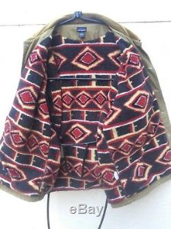 Vintage Patagonia Fall 98 Aztec Fleece Lined Barn Jacket Coat Sz L