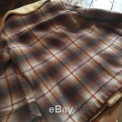 Vintage Pendleton, Shadow Plaid, Heavy Wool, Lined Jacket, Western Wear, Winter
