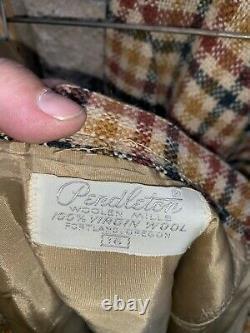 Vintage Pendleton Womans Plaid Suit Dress Jacket Skirt Pants Size 16