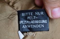 Vintage Real Karakul Fur Leather Jacket Bolero Vest Shrug benetti Women Fur Coat