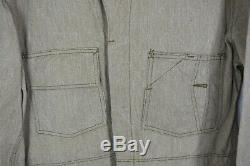 Vintage Red Line coveralls L mint looks unworn Sanforized hesco fabric 30's 40's