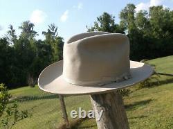 Vintage Royal Deluxe Stetson Open Road Western Dress Hat Snug 7 1/8 Fit
