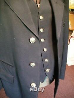 Vintage SOO LINE Railroad Conductor Uniform Jacket, Vest, Silver Buttons RARE