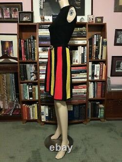 Vintage ST. JOHN RETRO HEAVY NUBBY KNIT FIT & FLARE SCOOTER SHIFT A LINE DRESS 4