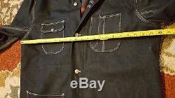 Vintage Sears Hercules SANFORIZED Denim Jacket SZ 46 XL Barn Chore Blanket Lined