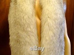 Vintage Silver Fox Boa 91 Long Plush 2 Tails Silk Velvet Lined Nicholas Ungar