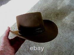 Vintage Stetson 4XXXX Beaver WithLeather Band AAA1 Condition Size 7 5/8