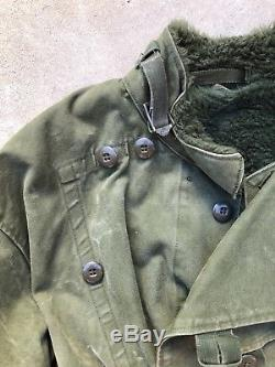Vintage Swedish Military Army Motorcycle Lined Jacket C 56