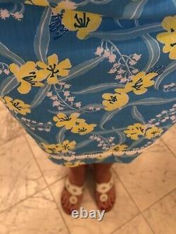 Vintage The Lilly Dress Lilly Pulitzer Size Large Blue Yellow Floral