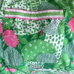 Vintage The Lilly Dress Lilly Pulitzer Size Large Green Pink Floral