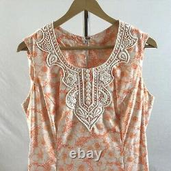 Vintage The Lilly Dress Lilly Pulitzer Size Large Orange And White Floral Lace