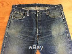 Vintage Vtg1960's Original LEVIS Big E 501 W39 L29 Denim Red Line Selvedge Jeans
