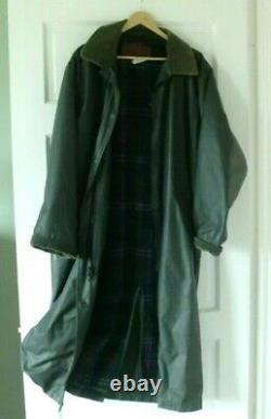 Vintage Wool Lined Lightweight Raincoat Warm Waterproof Trench Coat Waxed Cotton