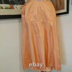 Vintage dress coat 60s suit apricot lined Audrey hepburn shift cocktail orange