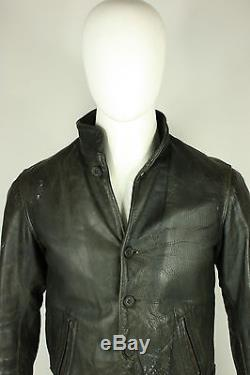 Vintage horsehide jacket S 20's 30's A-1 flight leather sheepskin lined pilots