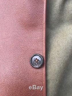 Vintage leather jerkin Gilet wool Lined