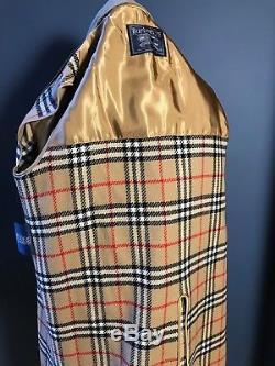 Vintage mens Burberry mac lined raincoat raglan sleeve size 36 38 short